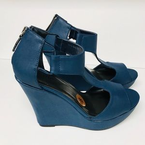 Jasmine wedge high heels woman's shoes size 8